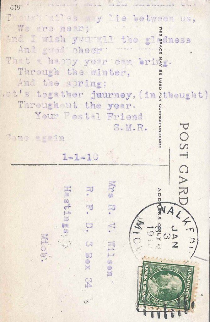 906 - FROM A FRIEND - 03.01.1910
