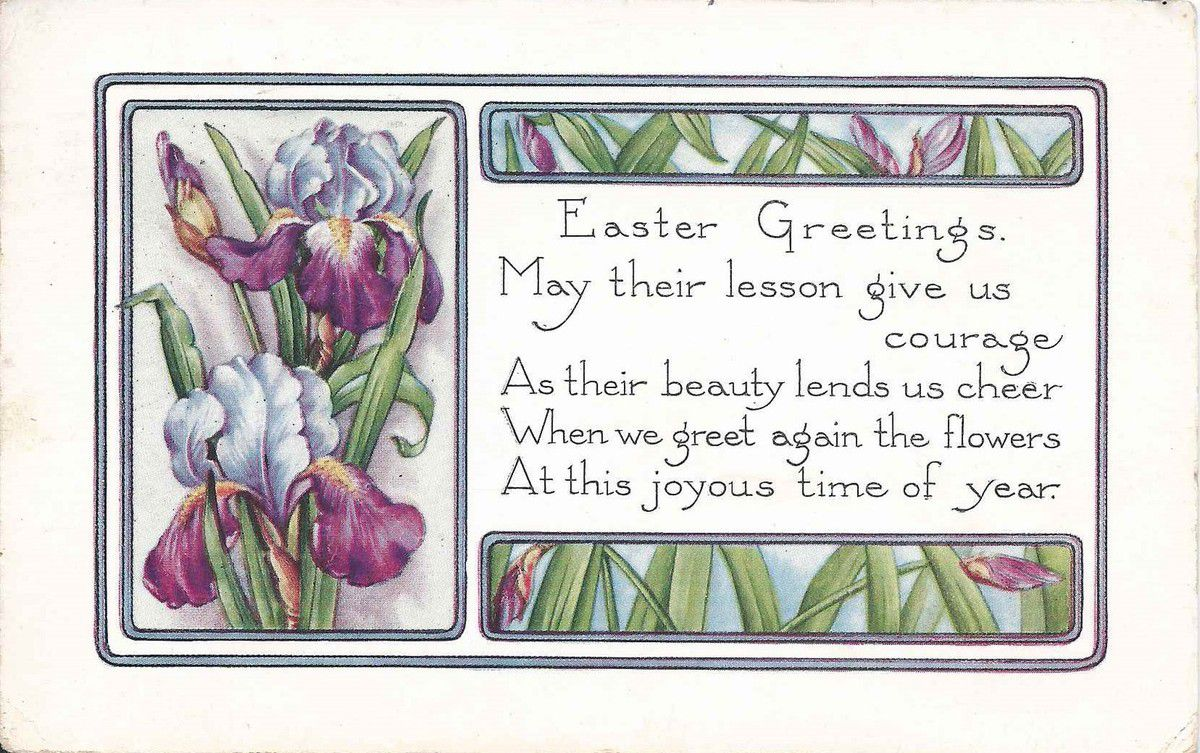 1143 - EASTER GREETINGS - 11.03.1921 -  USA -