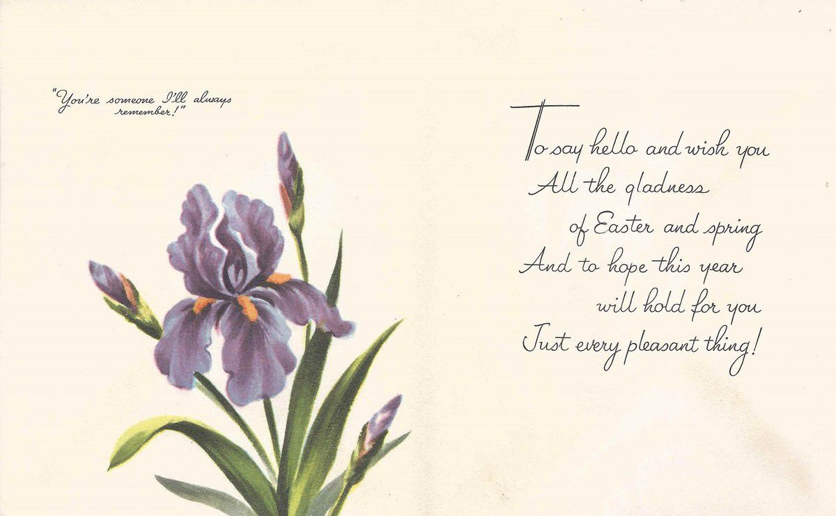 IRIS 1358 - HAPPY EASTER TO YOU ..