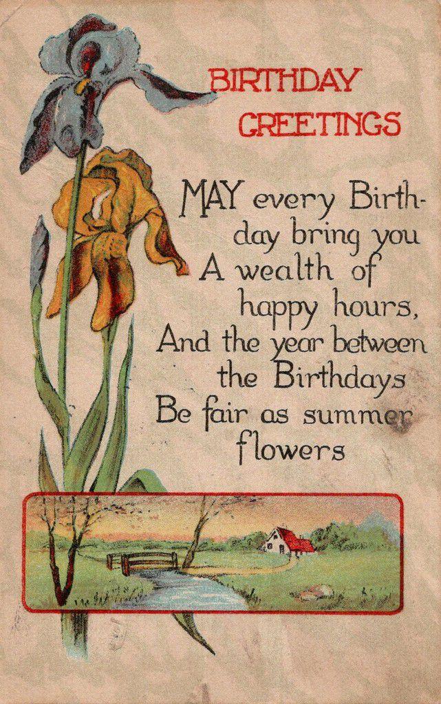 IRIS 1514 - BIRTHDAY GREETINGS - 12 MARS 1915 - USA