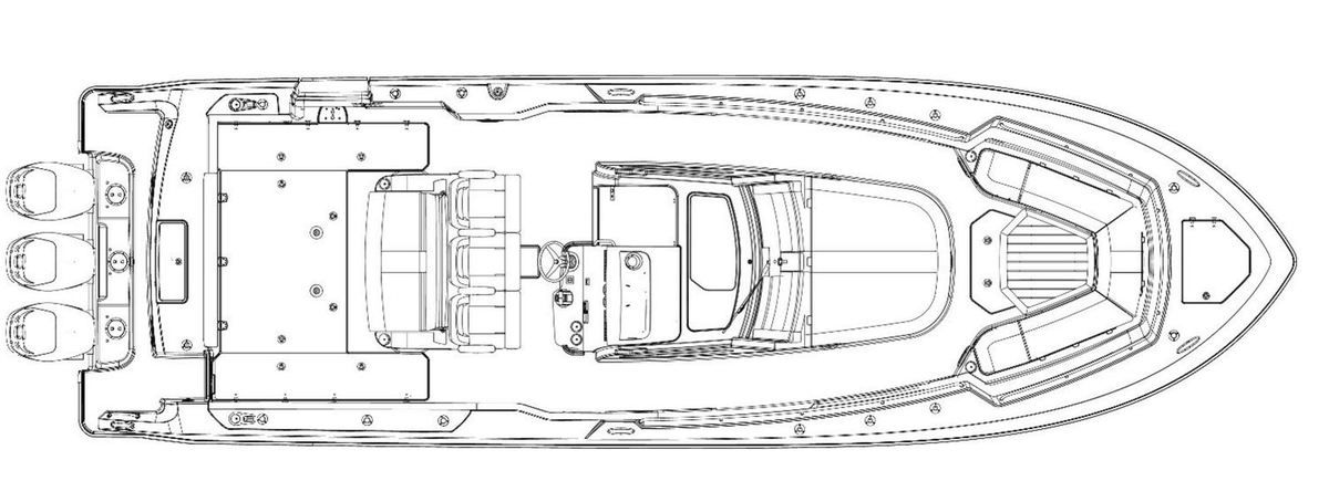 The new Boston Whaler 380 Outrage launched at Miami Boat Show 2017
