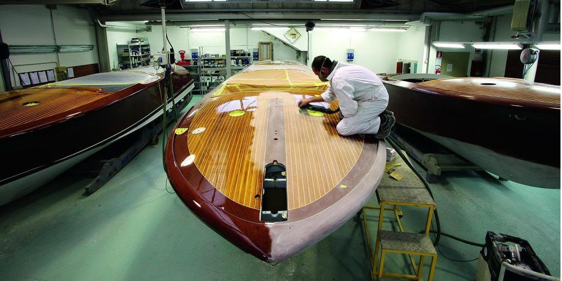Another sucessfull Riva restauration at shipyard Arie de Boom