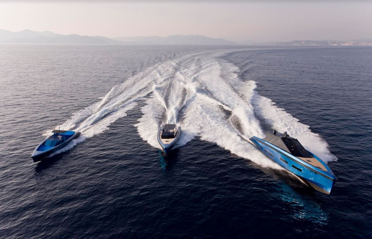 wally powerboats, in Saint Tropez - photo : Gilles Martin-Raget