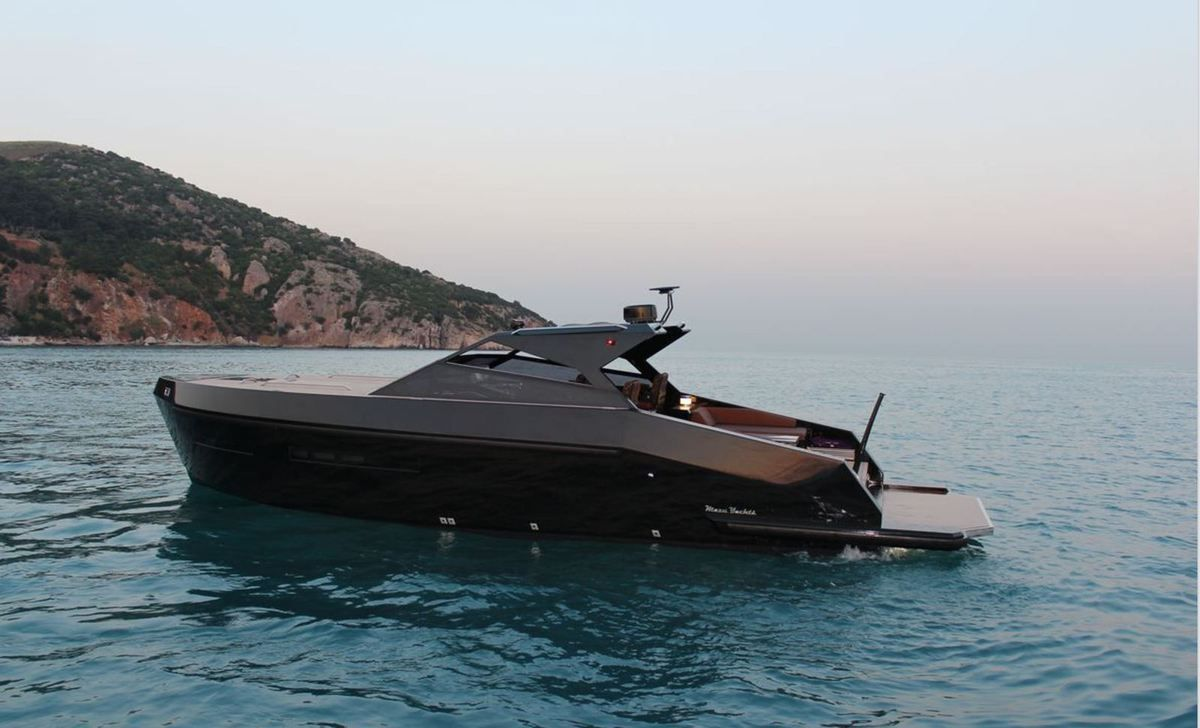 Mazu 38 Soft Top on Yachting Art