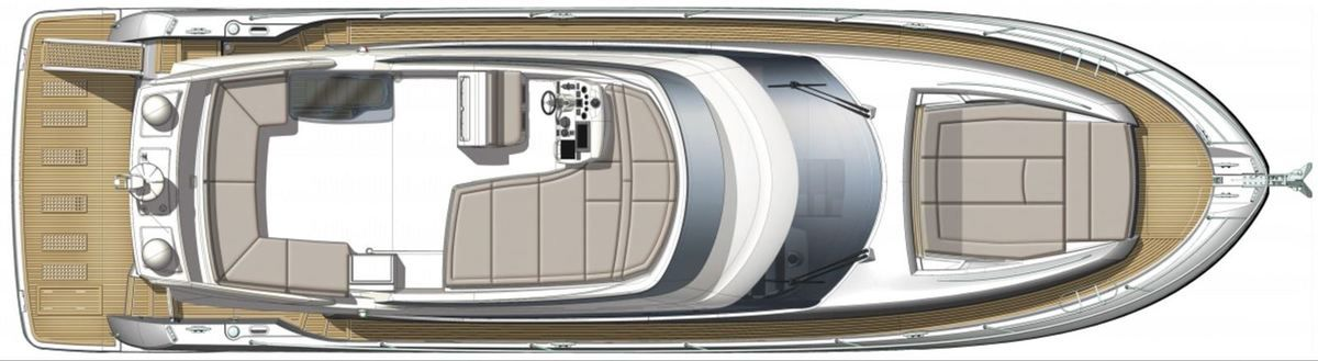 Layout of the Prestige 560 by Prestige Yachts