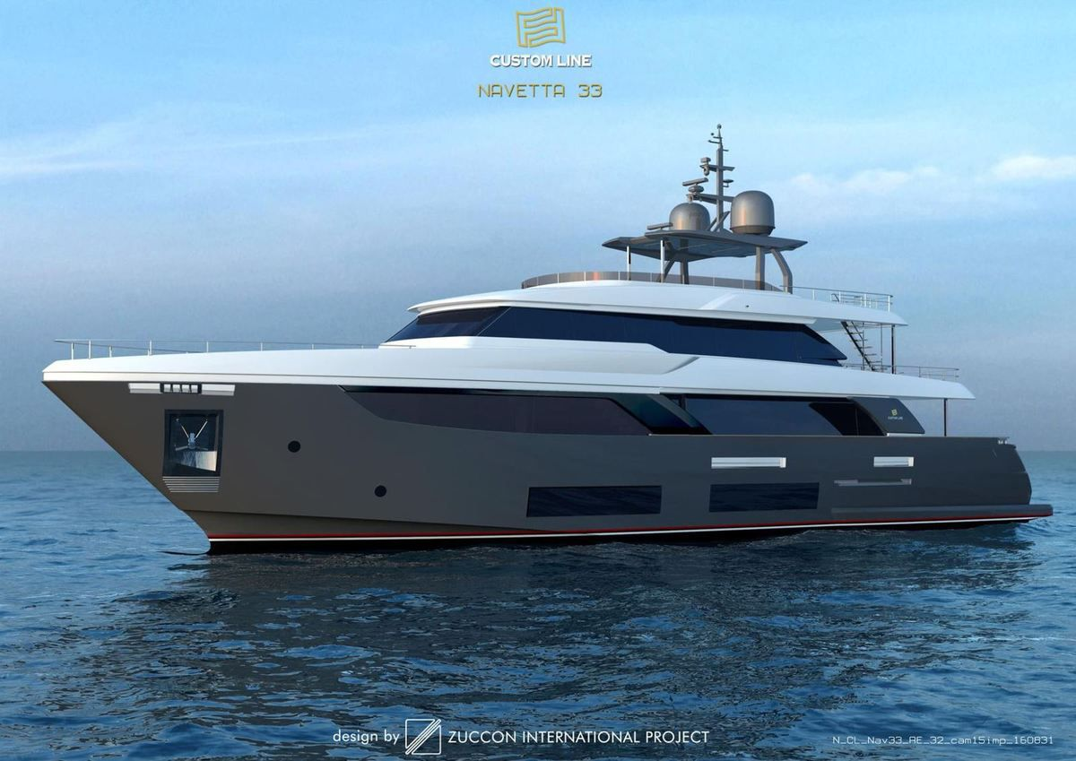 The project for the exteriors of Navetta 33 by Zuccon International Project.