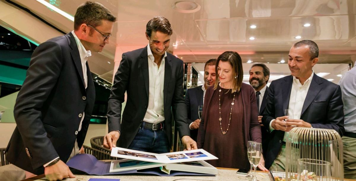 Rafael Nadal chooses the MCY 76 by Monte Carlo Yachts, as his personal yacht