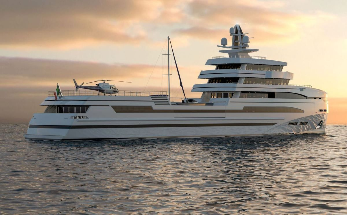 Rosetti Superyachts unveils details of its 85m expedition supply vessel concept
