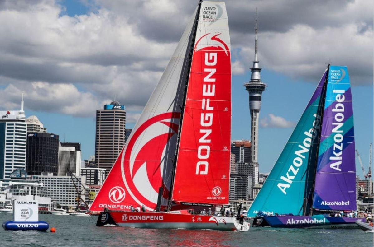 Volvo Ocean Race - Dongfeng win challenging New Zealand Herald In Port Race