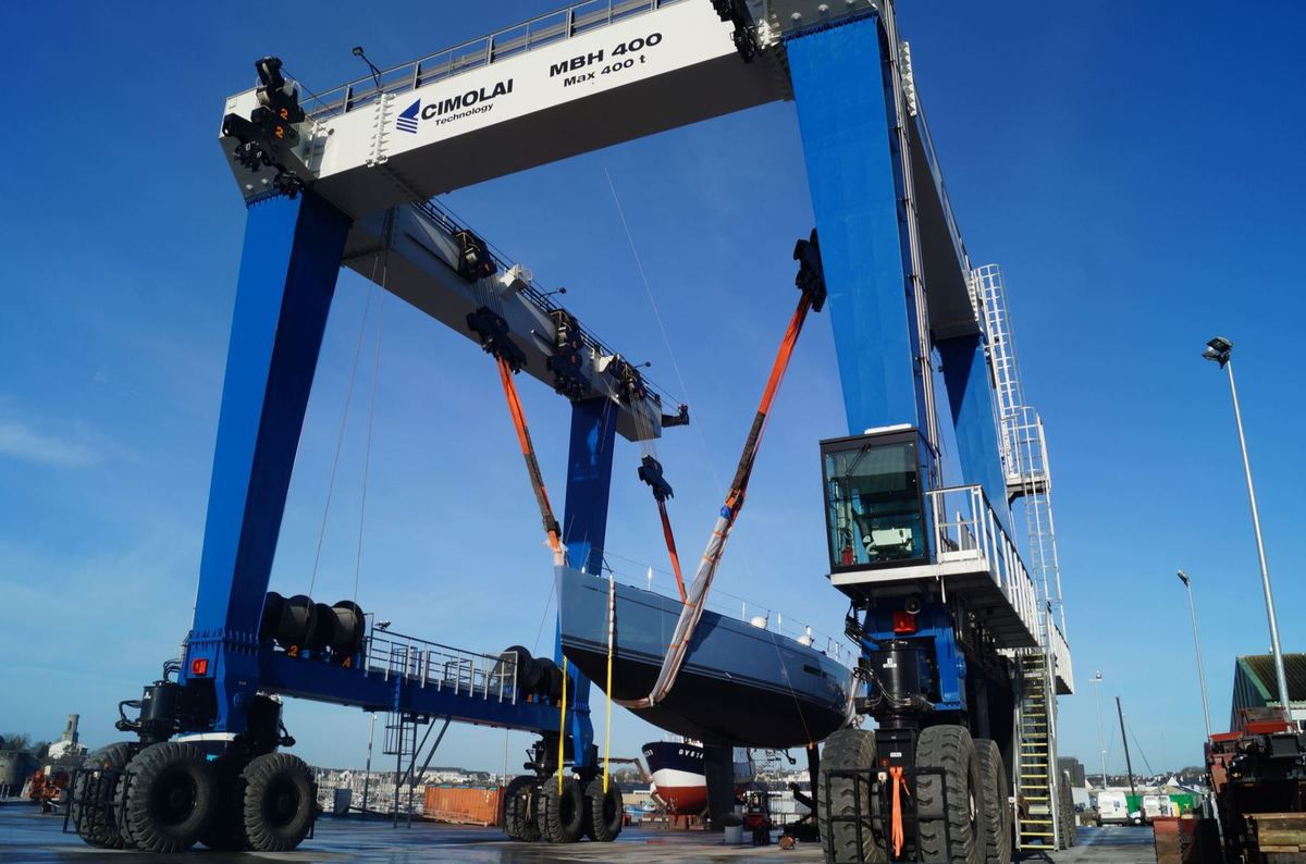 Yachting - A new 400t Travel Lift for JFA Shipyard, to Develop Refit Activities