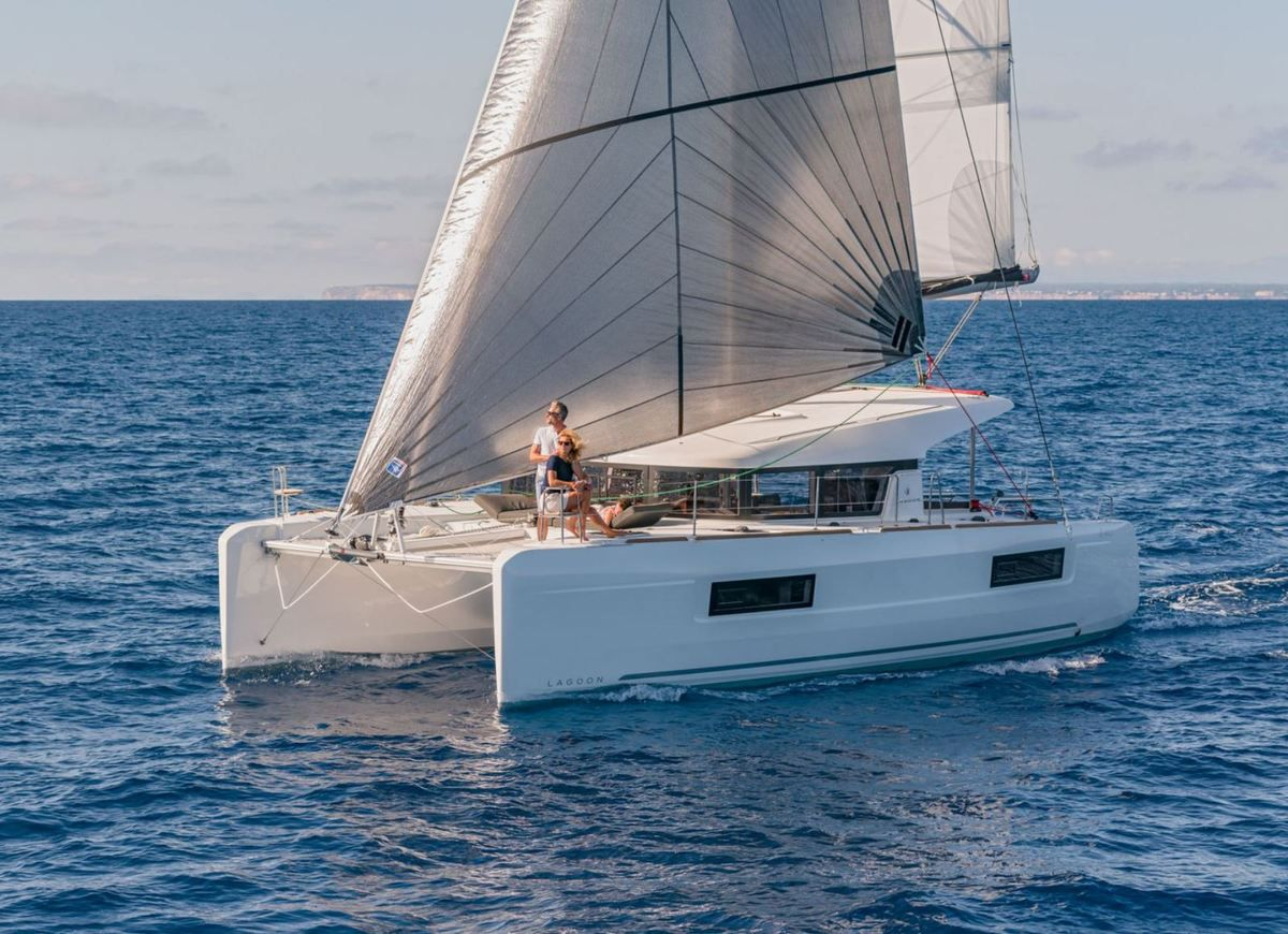 The new Lagoon 40, one of the great novelties of the 2018 International Multihull Boat Show