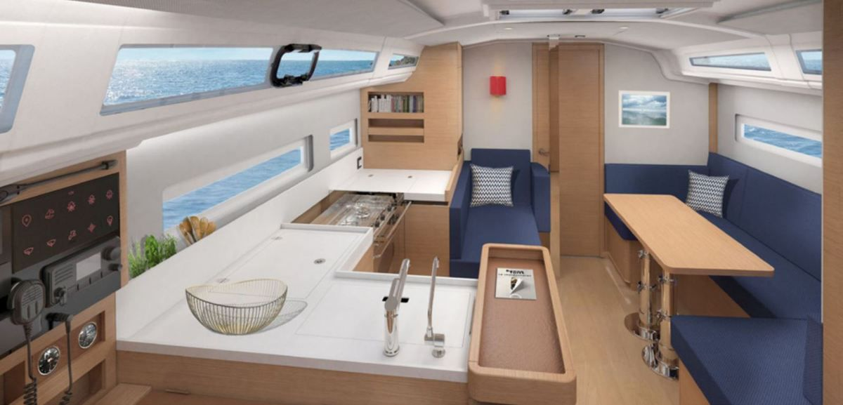 A new contemporary interior style for the Jeanneau Sun Odyssey 410