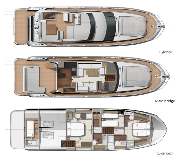 Layout of the Prestige 590
