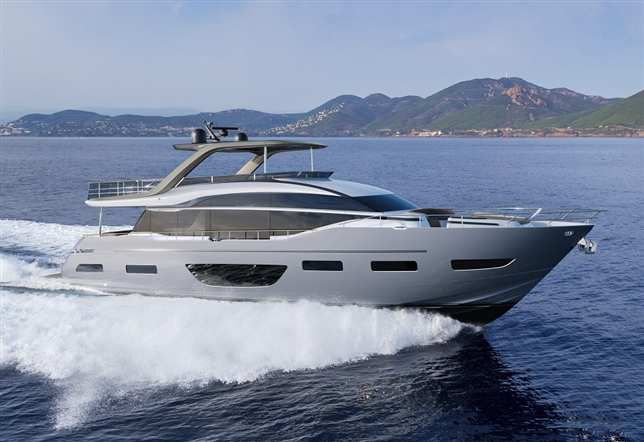 The all-new Princess Yachts Y85 flagship flybridge motor yacht