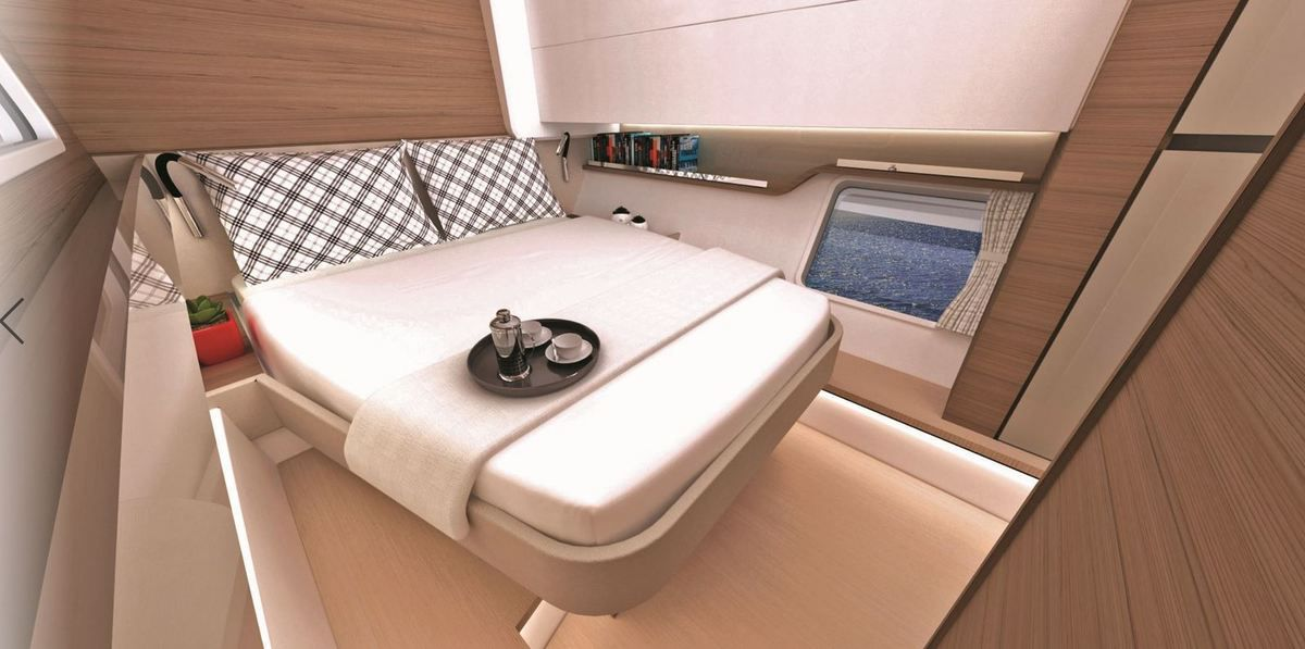 Bali CatSpace rear cabin each have 3 hull glazings