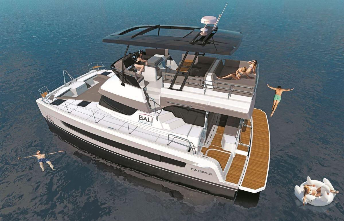 Bali Catamarans startet Catspace Motoryacht, ein 40-Fuß-langer Motor-Katamaran mit großen forderen Kabinen