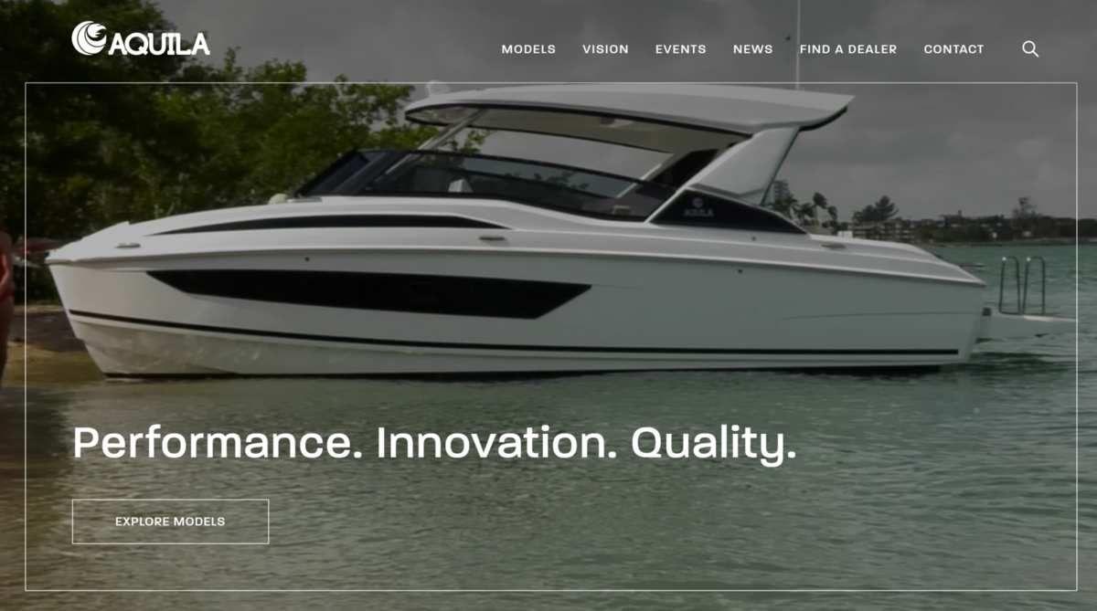 Bootindustrie - Eine neue Website für Aquila Power Catamarans