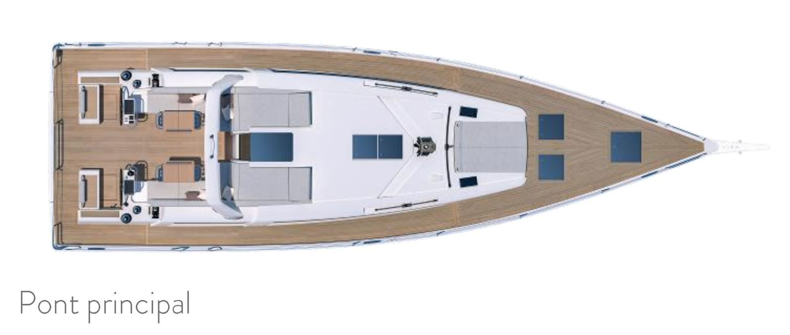 Bénéteau announces the arrival of the Océanis Yacht 54, with a revolutionary deck layout