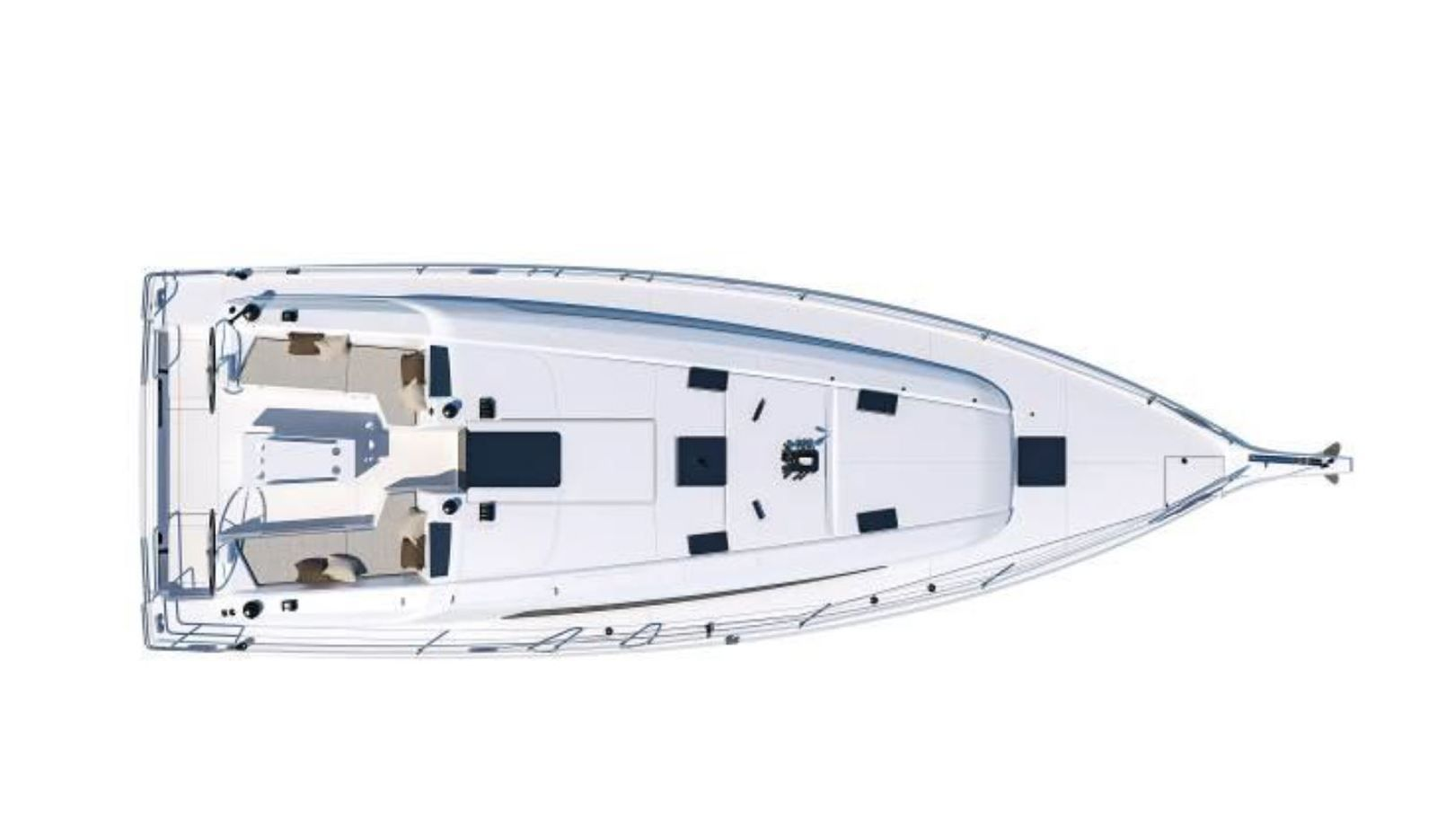 The different layouts of the Bénéteau Oceanis 40.1