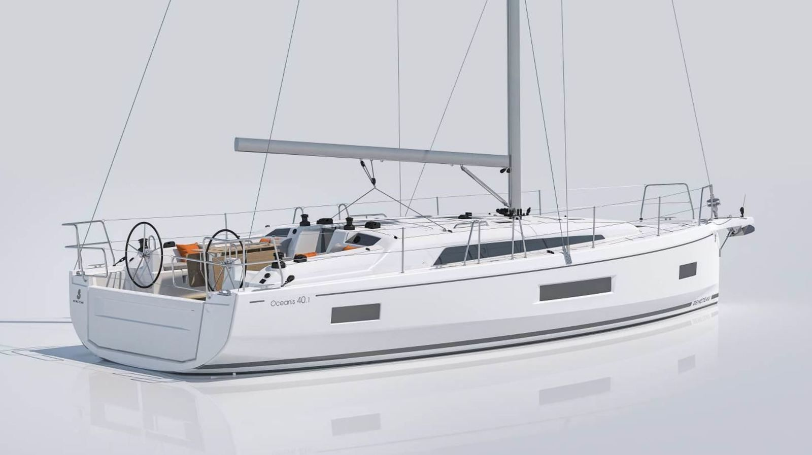 Rear view of the Beneteau Oceanis 40.1