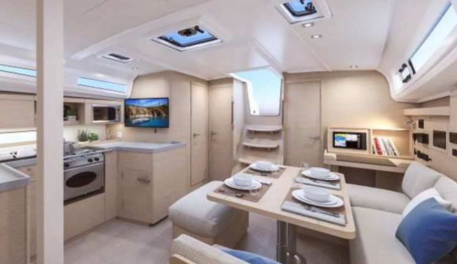 First viewes of the saloon of the Bénéteau Oceanis 40.1