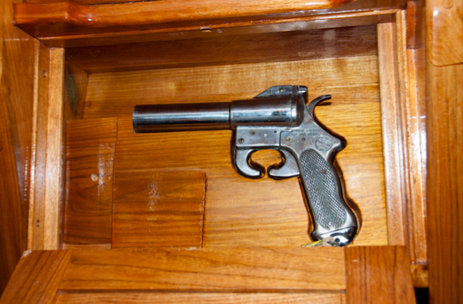 Pistol hidden aboard JF Kennedy's sailboat Manitou