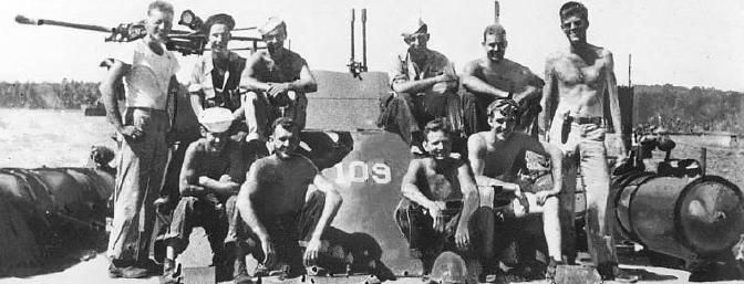 the crew of Lieutenant JF Kennedy's PT 109 torpedo boat...