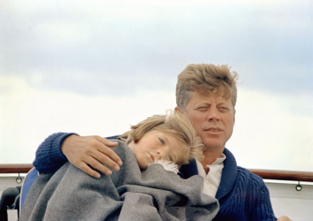 JF Kennedy and Caroline, sailing