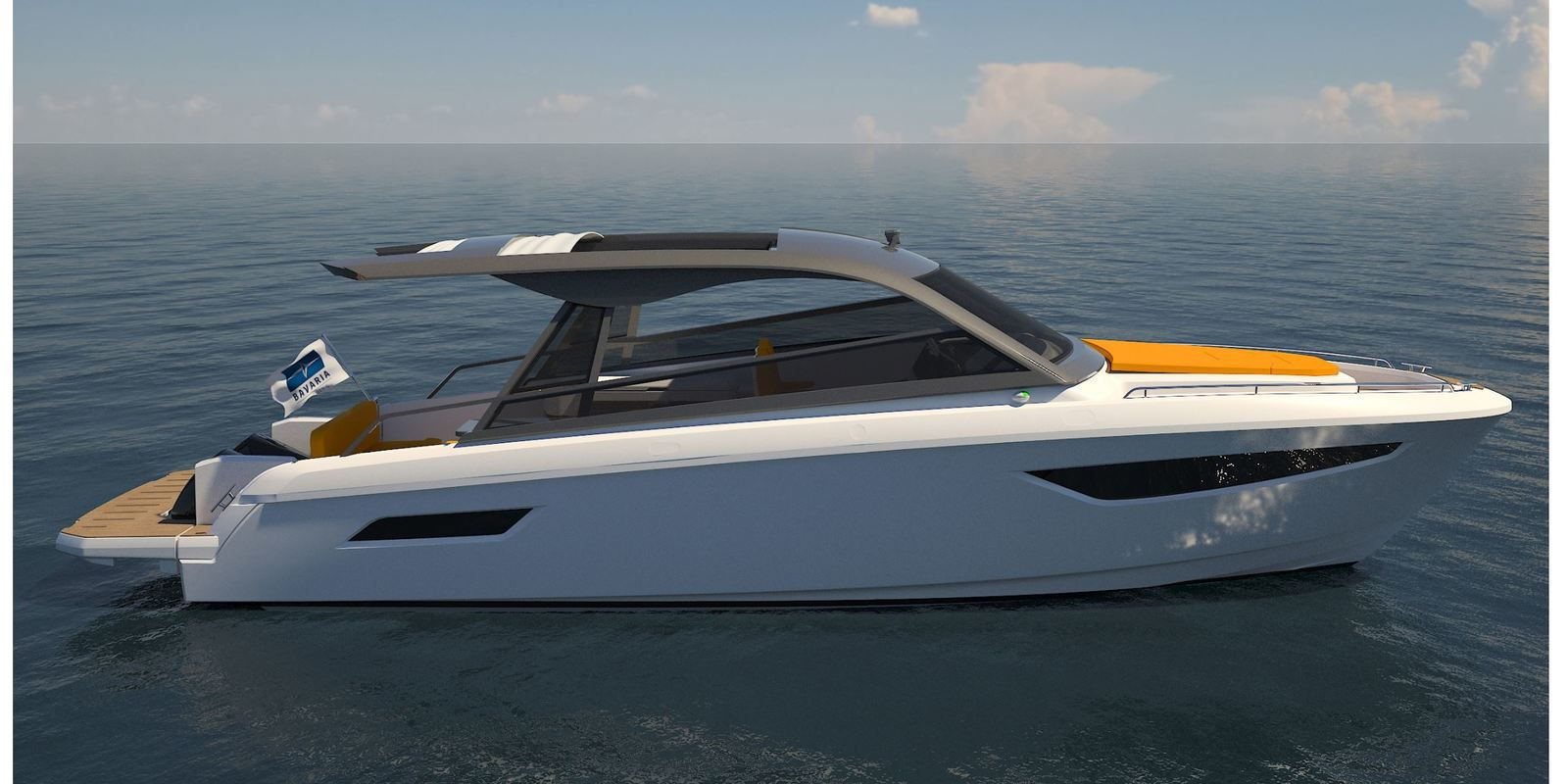 First visuals of Bavaria Vida 33, the first outboard boat from the German shipyard