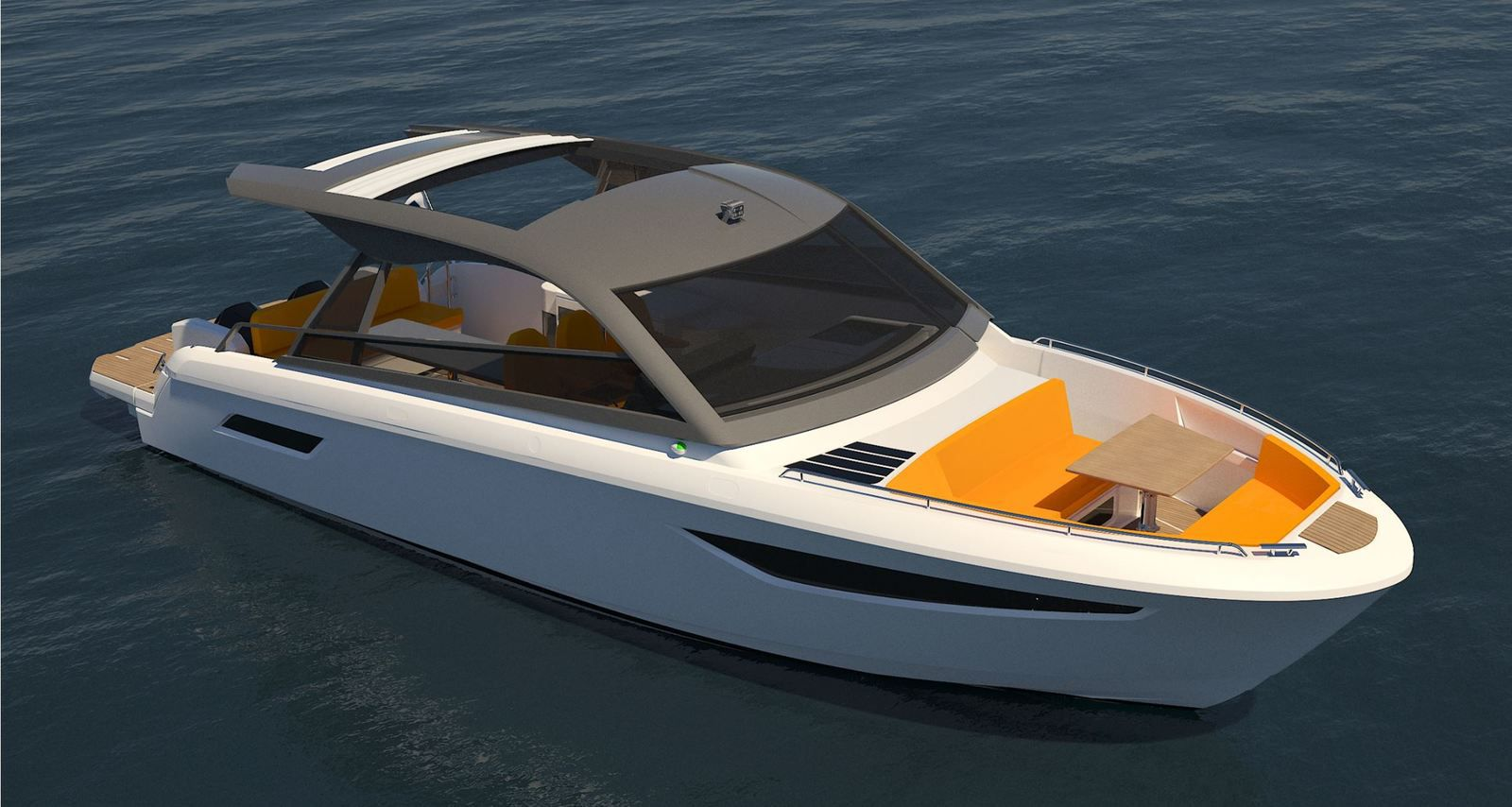 Bavaria Vida 33 HT with an Open-type forward cockpit, with a saloon and a shower room behind the cockpit