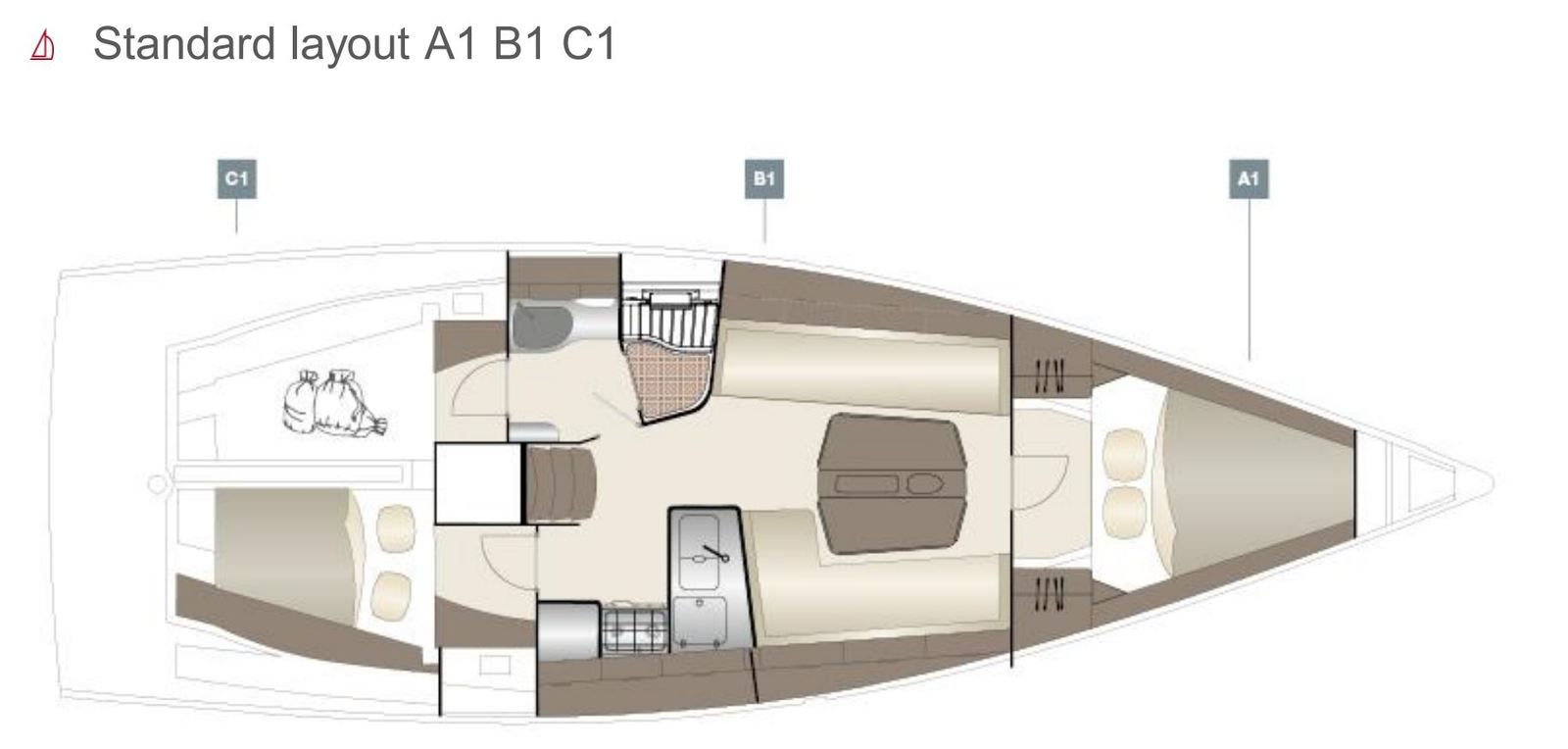 The different layouts of the new Dehler 38 SQ