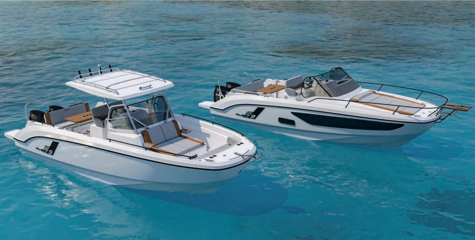 The new Bénéteau Flyer 9 is available in 2 versions: SpaceDeck and SunDeck.