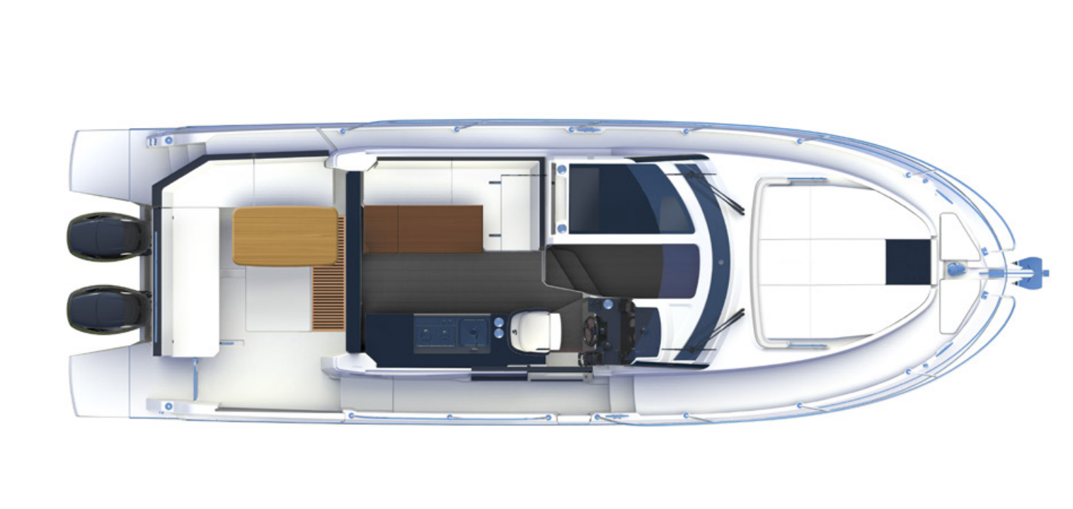 Scoop - a flybridge version for the Beneteau Antares 11