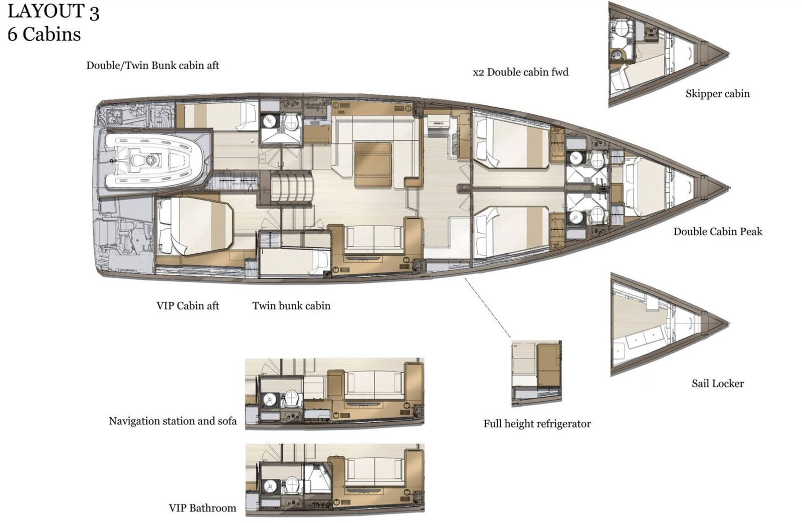 Yachting - the new Jeanneau Yachts 60 changes style and goes semi-custom