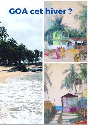 Merci a Denis Carrière pour ses jolis dessins de notre lieu préféré à Goa !