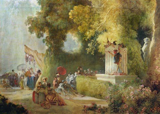 La fête à St Cloud, par Fragonard (détail partie droite)