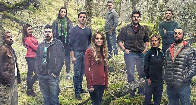 Les candidats du jeu de téléréalité Eden sur Channel 4