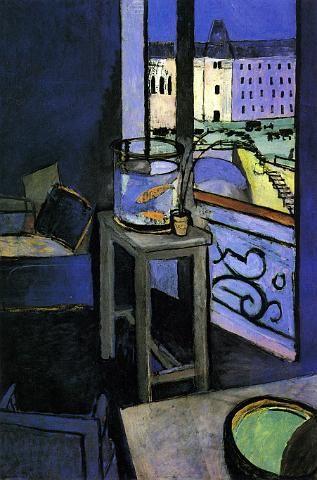 Henri Matisse, Intérieur, bocal de poissons rouges, 1914.