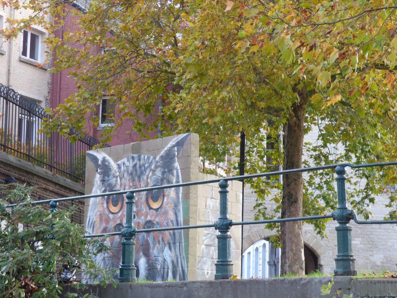Street art au fil de canaux de Gand