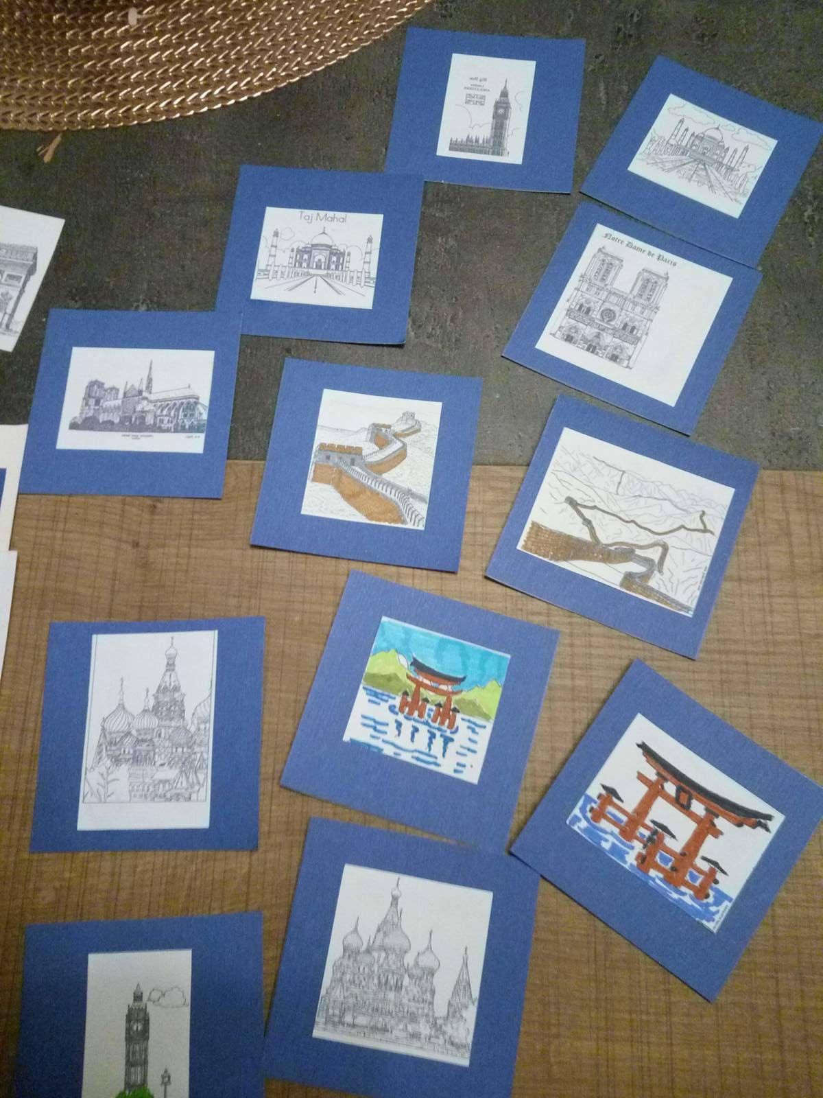 cartes mémory monuments du monde