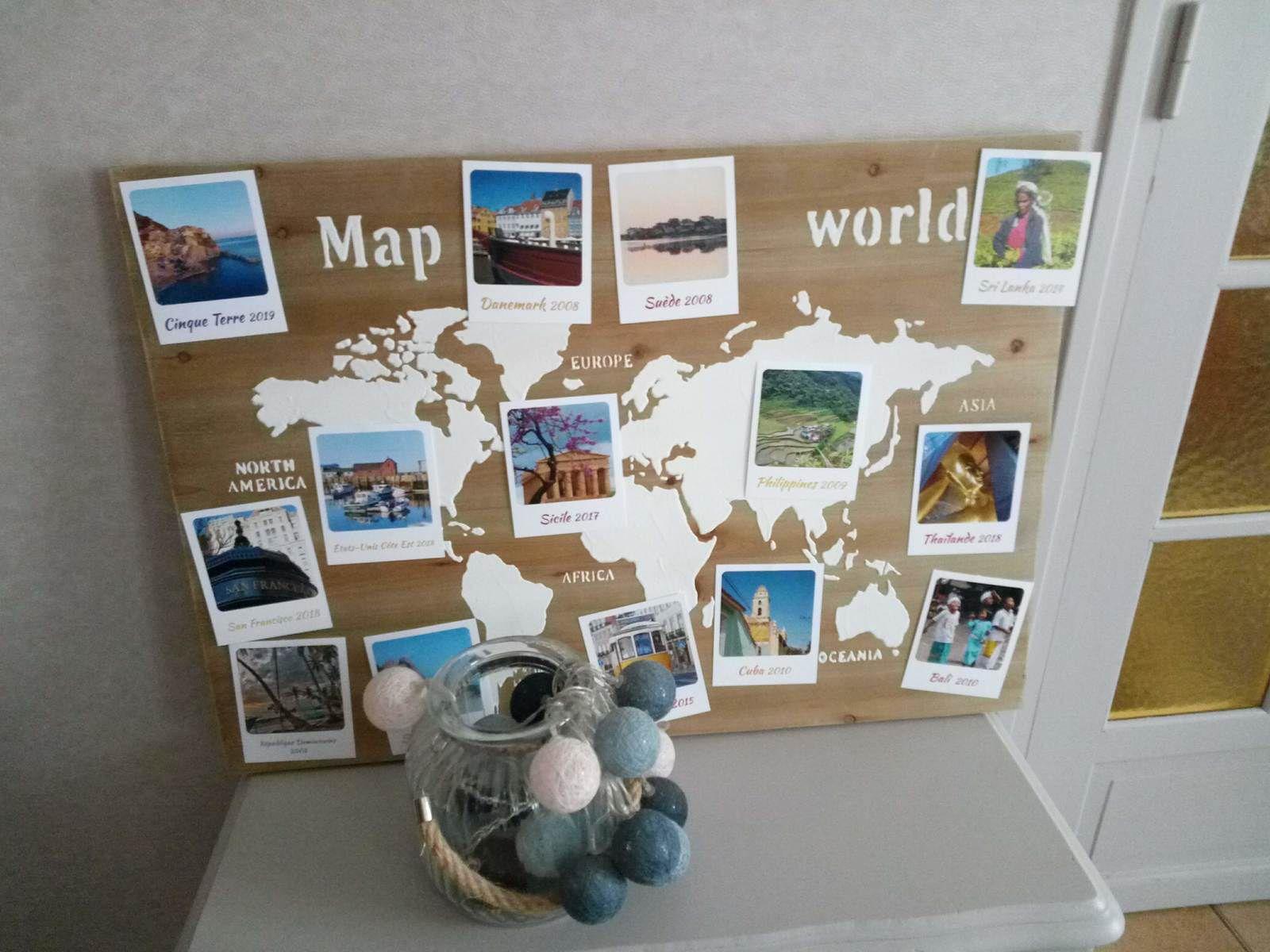 Carte de mes voyages autour du monde