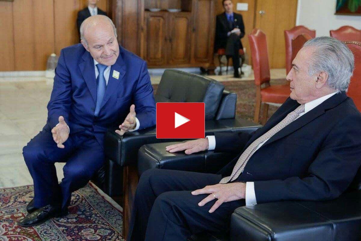 Isaad Rebrab et le Président du Brésil Michel Temer