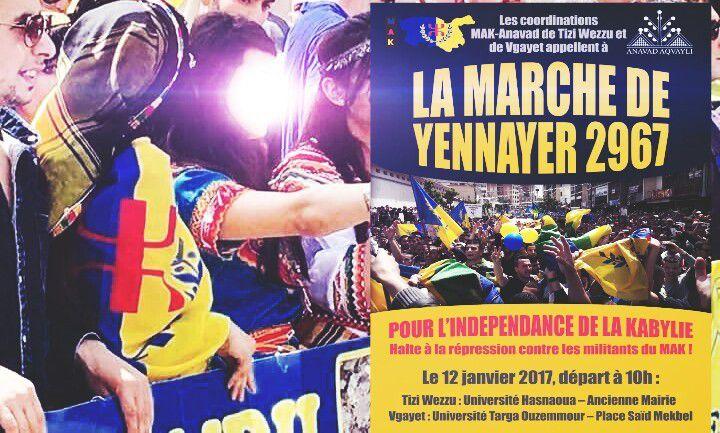 Yennayer 2967 : Le MAK/Anavad appelle à marcher pour l'indépendance de la Kabylie. K-Direct-Actualité