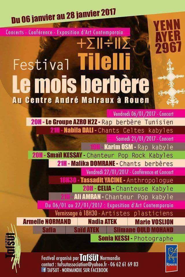 Culture : Un mois de janvier aux couleurs berbères en Normandie. KDirect - Actualité