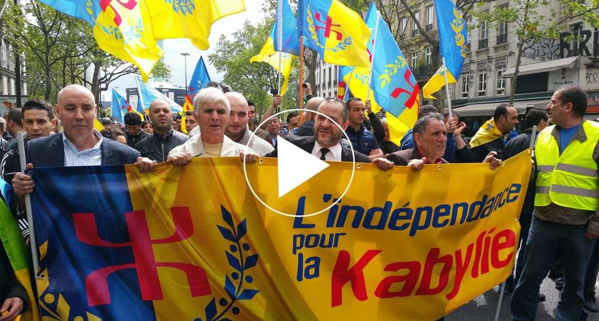 ⚀ VIDÉO : Une marée humaine à Paris pour réclamer l'indépendance de la Kabylie. KDirect -Actualité