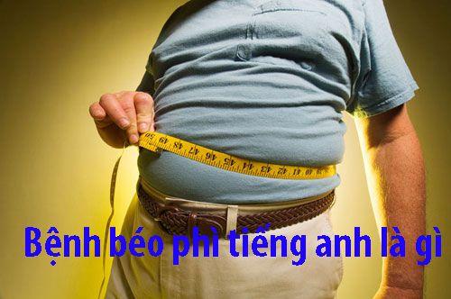 Bệnh béo phì tiếng anh là gì ?