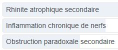Sondage Syndrome du nez vide : physiopathologie