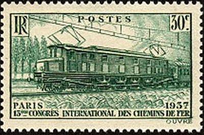 Trains et Philatélie année 1937