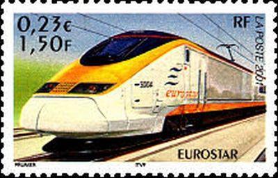 Trains et Philatélie année 2001