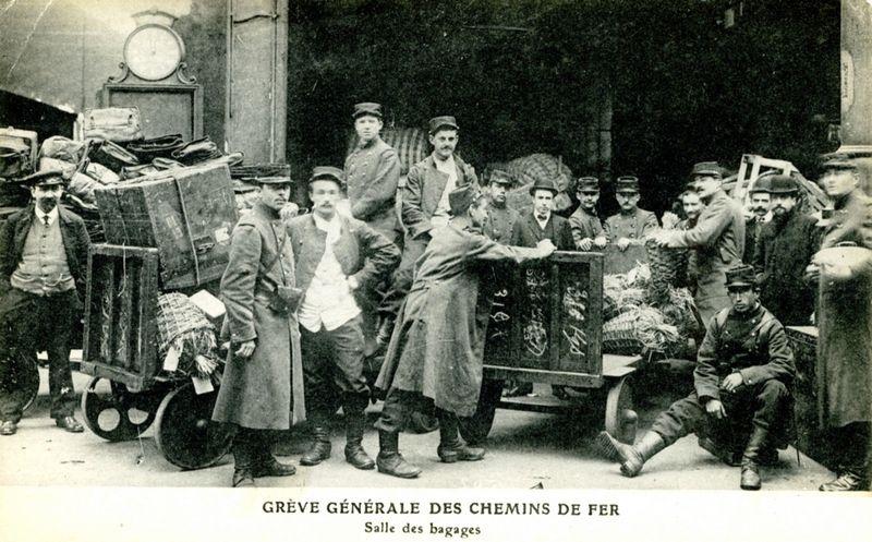 CP grève générale aux chemins de fer